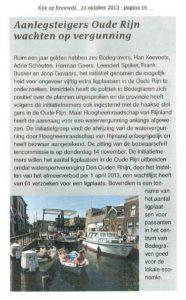23 oktober 2013 - Kijk op Reeuwijk